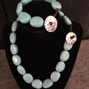 Chaps necklace and bracelet